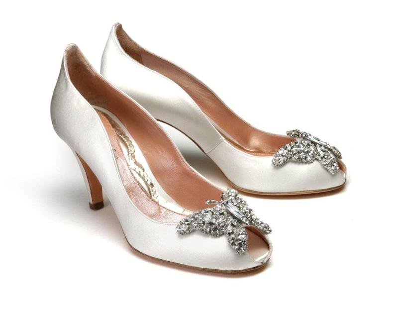 Diamante Wedding Shoes Low Heel