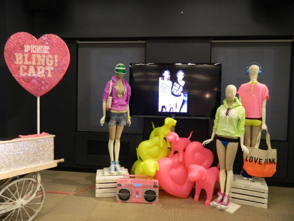 Victoria's Secret Pink Spring 2012 Shpwroom display, Photo: Style Pooh-Bahs