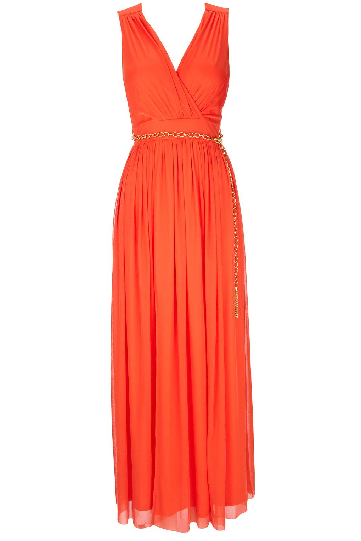 orange maxi dress Fashion Shoes