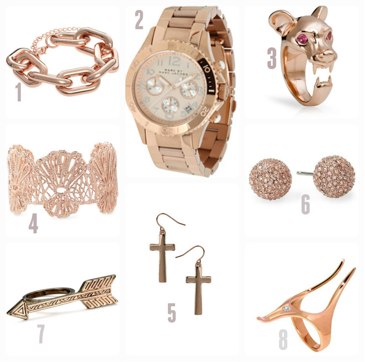 Catching eye Rose gold jewelry collection for New year What Woman