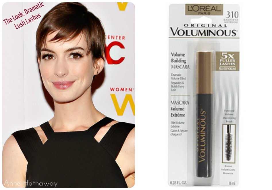 Anne Hathaway lush lashes