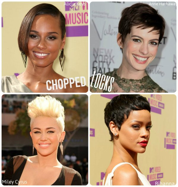 Celebs in short hairstyles of 2012