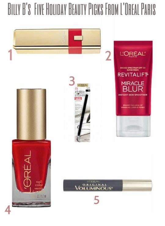 L'Oreal Paris Holiday Beauty Picks Stylepoohbahs.com