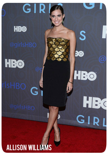 Allison Williams HBOHostsPremiereGirlsSeason2
