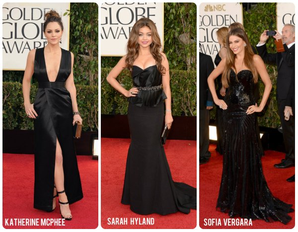 Black gowns at Golden Globes