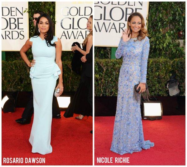 blue dresses on celebs - sp