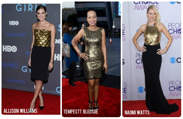 celeb starlets in gold sp
