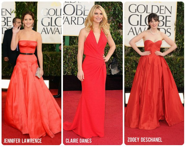 red gowns at golden globes sp