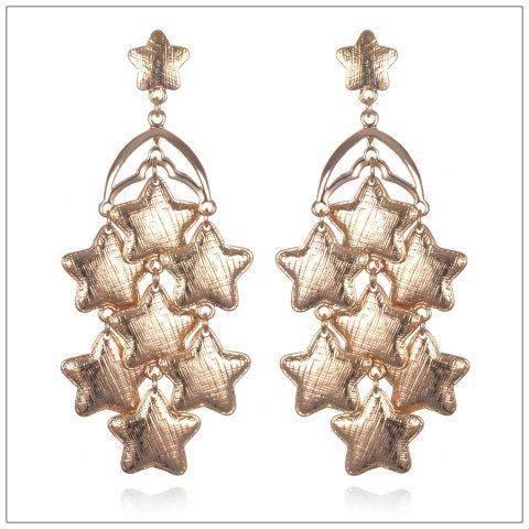SIE1195 RG STAR CHANDELIER EARRINGS copy