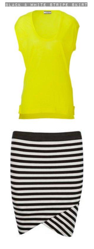 Black & White Stripe Skirt