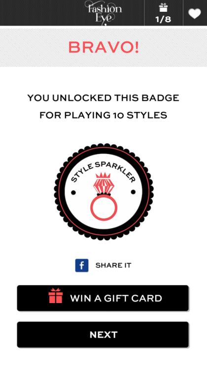 15. StyleSparkler Badge Unlocked