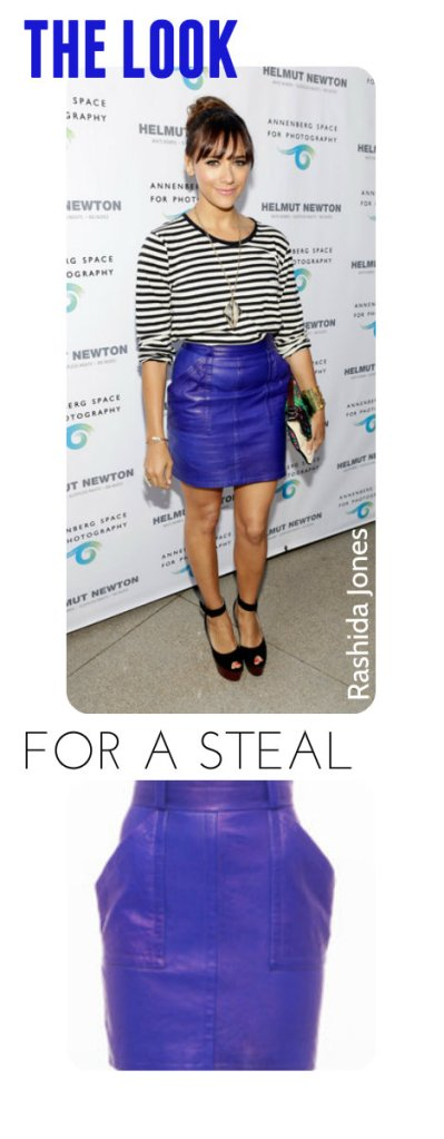 Rashida Jones in colored leater skirt_sp