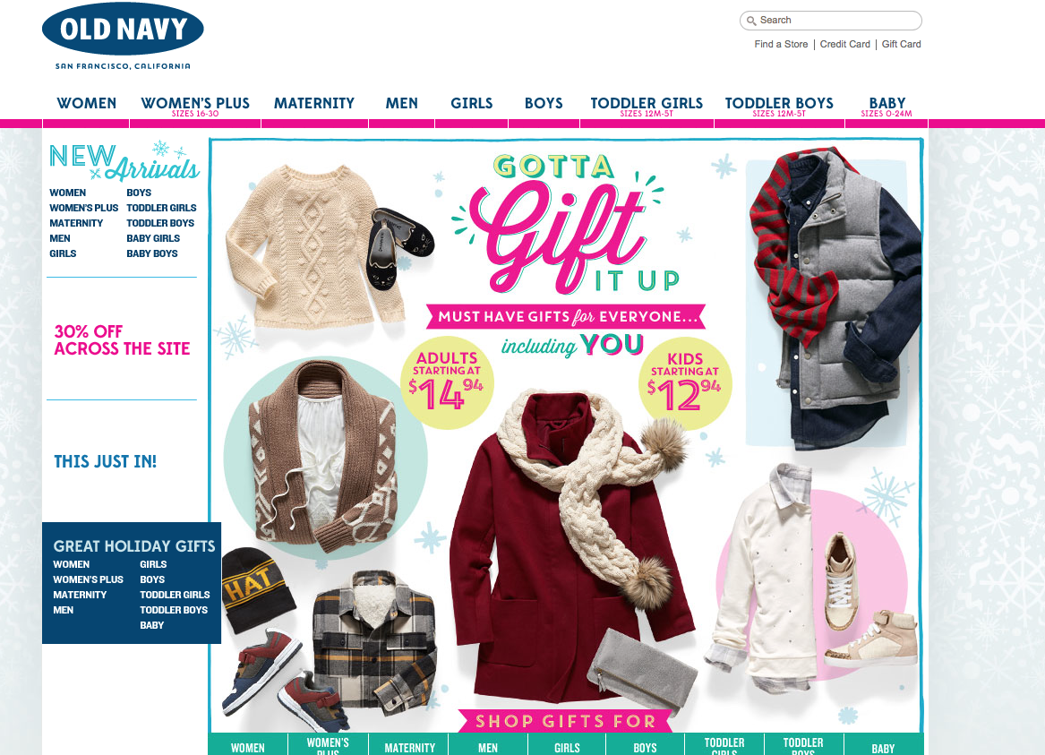 Old Navy Black Friday 2015